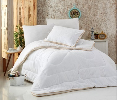 Komfort Home Çift Kişilik Welsoft-Micro Klimalı Yorgan +2 Yastık Renkli
